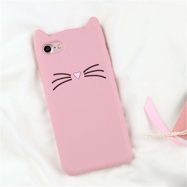 Pink Cat Whiskers 3D iPhone Case