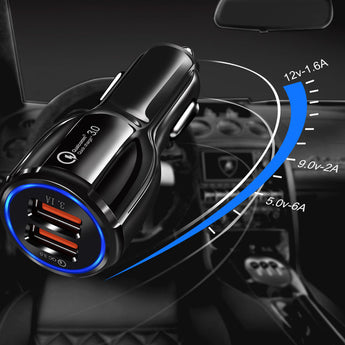 Dual Easy Quick Car Phone Charger