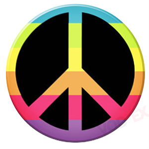 Rainbow Peace Sign Pop