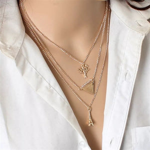 Eiffel Tower Layered Necklace