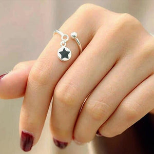 92.5 Silver Dangling Star Ring