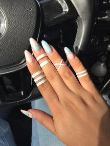4 Pcs For The Love Of White Rings