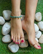 Load image into Gallery viewer, Boho Turquoise Anklet + Bracelet