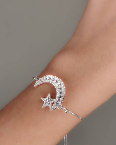 Crescent Moon & Star Bracelet
