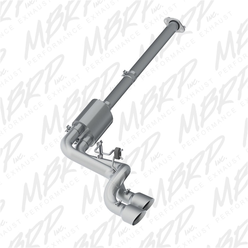 MBRP 09-14 Ford F150 Pre-Axle 4.5in OD Tips Dual Outlet 3in AL Cat Back