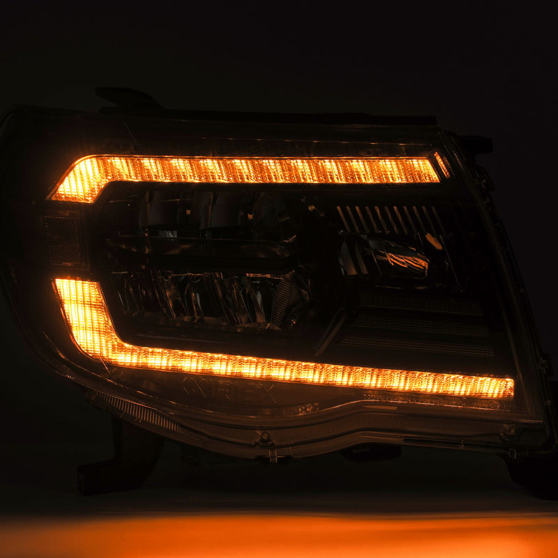 ALPHAREX - 05-11 Toyota Tacoma LUXX-Series LED Crystal Headlights Black-Lighting-Deviate Dezigns (DV8DZ9)