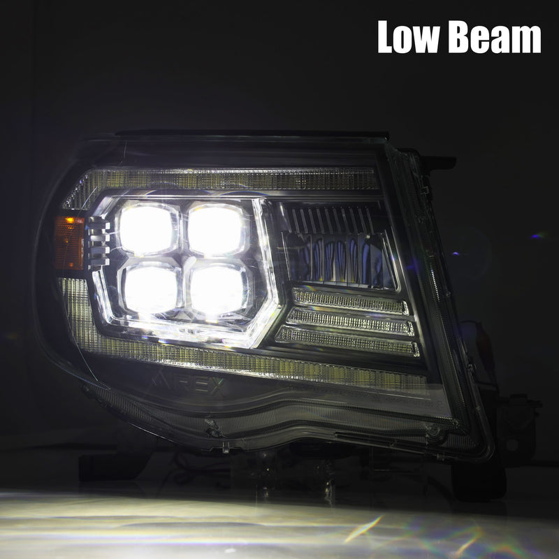 ALPHAREX - 05-11 Toyota Tacoma NOVA-Series LED Projector Headlights Black-Lighting-Deviate Dezigns (DV8DZ9)