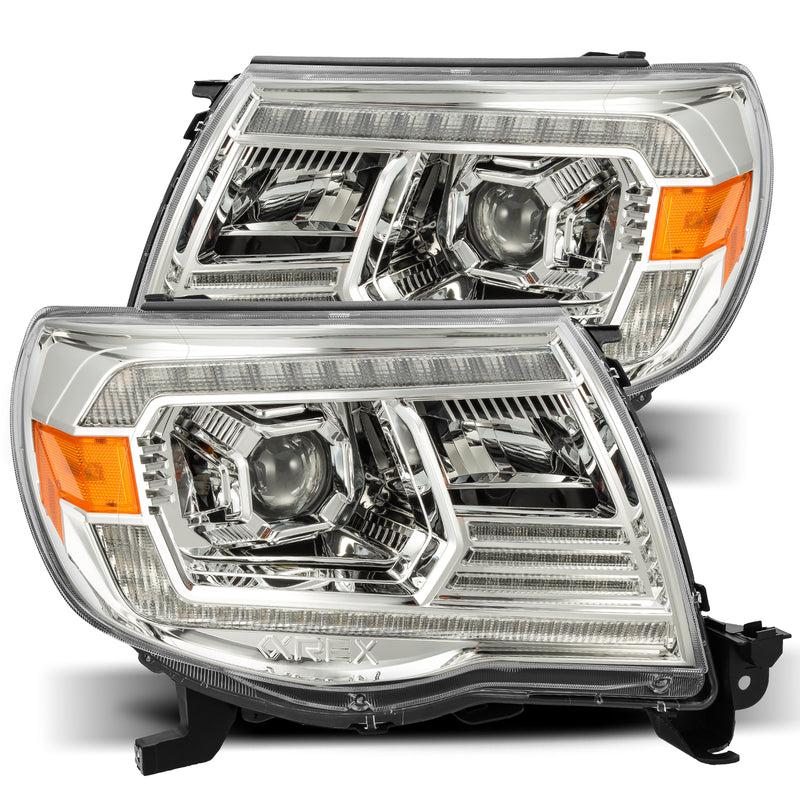 ALPHAREX - 05-11 Toyota Tacoma PRO-Series Projector Headlights Chrome-Lighting-Deviate Dezigns (DV8DZ9)