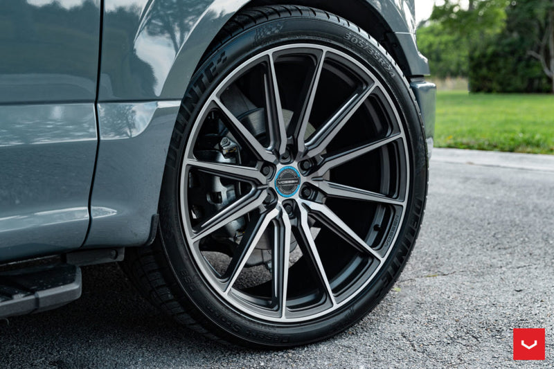 "Vossen 24"" HF6-1 - Brushed Matte Black 