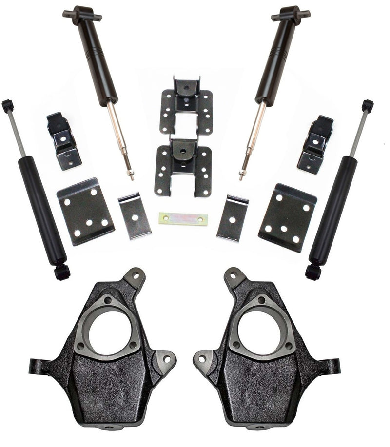 "Maxtrac - 2007-2016 GM 1500 2wd/4wd Adjustable 3/5"" or 4/6"" Lowering Kit - MaxTrac K331336S-Suspension-Deviate Dezigns (DV8DZ9)"