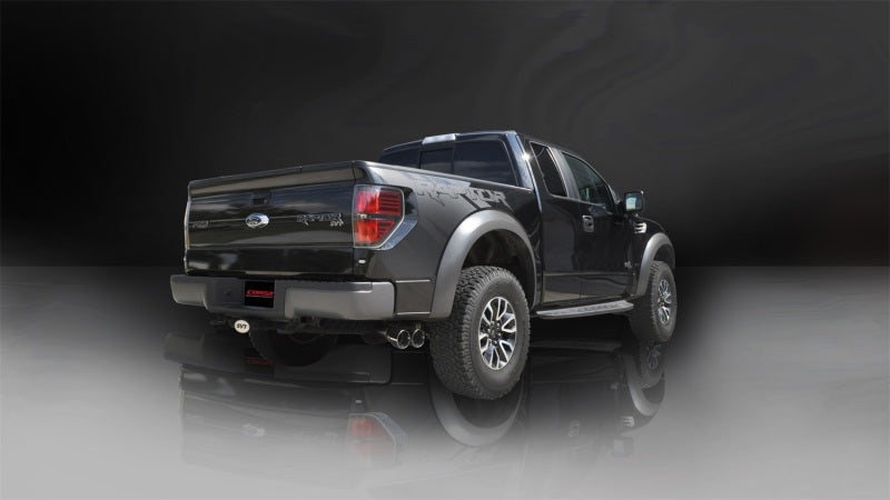 Corsa 11-13 Ford F-150 Raptor 6.2L V8 133in Wheelbase Polished Xtreme Cat-Back Exhaust-Catback-Deviate Dezigns (DV8DZ9)