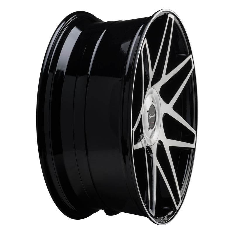 Gianelle - Parma w/ Cap | Gloss Black w/ Machined Face-Wheels-Deviate Dezigns (DV8DZ9)