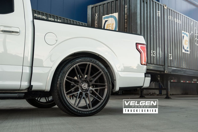 "Velgen 24"" VFT9 - Brushed Tinted Clear 