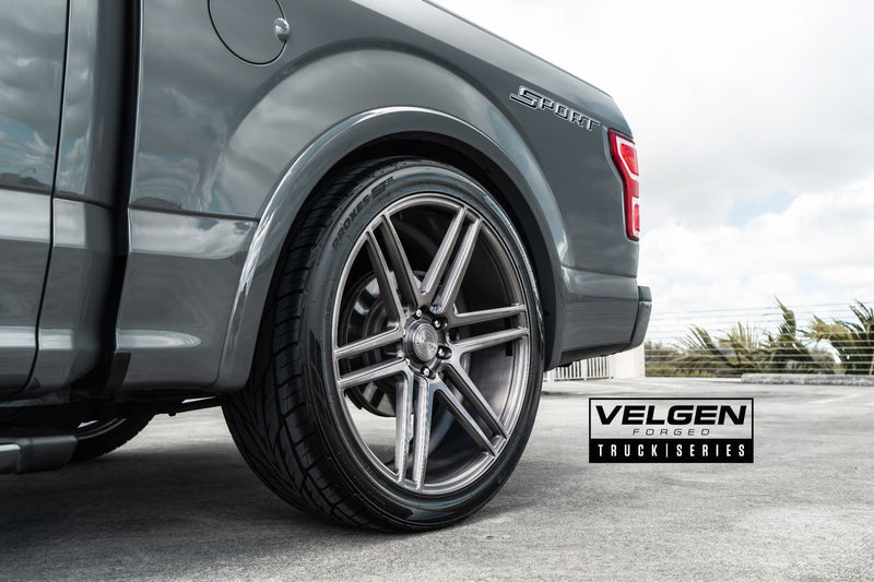 "Velgen 24"" VFT6 - Brushed Tinted Clear 