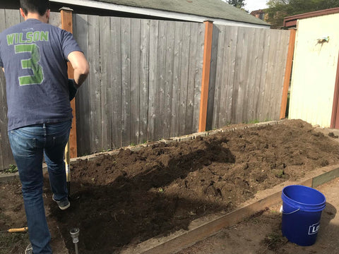 How much material do I need for a garden bed