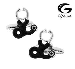 iGame Stethoscope Cufflinks Silver Color Copper Doctor Design Best Gift For Men Free Shipping
