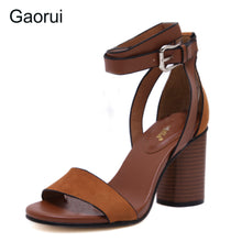 Load image into Gallery viewer, New Retro Women's high heeled Sandals  with  ankle Strap