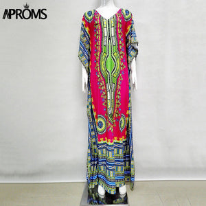 Traditional African Clothing Oversize African  Dresses for Women  .  Long Maxi Tunic Dress