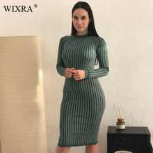 Load image into Gallery viewer, Warm Winter Women's bodycon  Sweater Dress