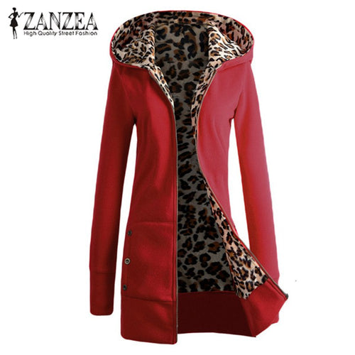 Women's Long Sleeve  autumn  / Winter Warm Casual Hooded jacket   Plus Sizes available