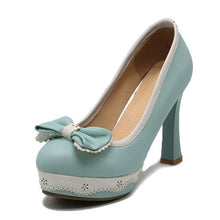 Load image into Gallery viewer, Women's High Heeled Princess retro very high heeled Bowtie Shoes