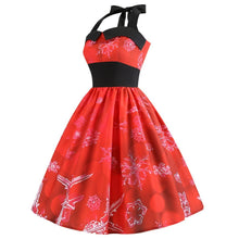 Load image into Gallery viewer, 2018 Vintage style  Sweet Christmas Cute Women Dress