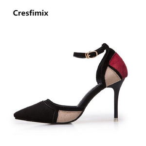 women's fashion comfortable buckle strap high heel shoes