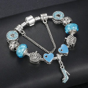 High Quality Sliver plated  Charm Bracelets