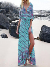Load image into Gallery viewer, Boho  Dress Long Floral Print   Maxi Dress   Vestido Mujer XXXL