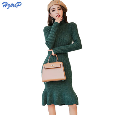 Winter/ autumn Office Elegant Sexy  Long Sleeve Bodycon Pencil Fishtail Dress