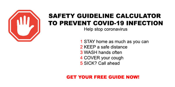 Safety Guideline Calculator to prevent COVID-19 infection