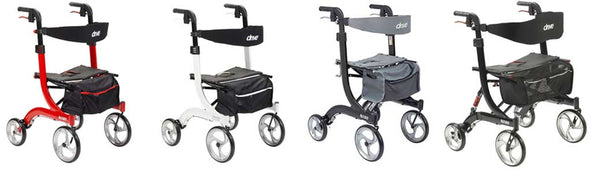 nitro walker rollator duet dual function transport wheelchair