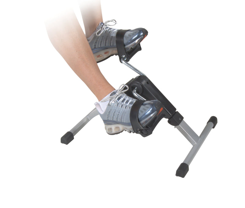 Folding Exercise Peddler with Electronic Display Black -