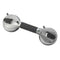 Suction Cup Grab Bar 12 Chrome and Black - Bathroom Safety