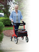 Nitro Euro Style Rollator Rolling Walker Tall Red -