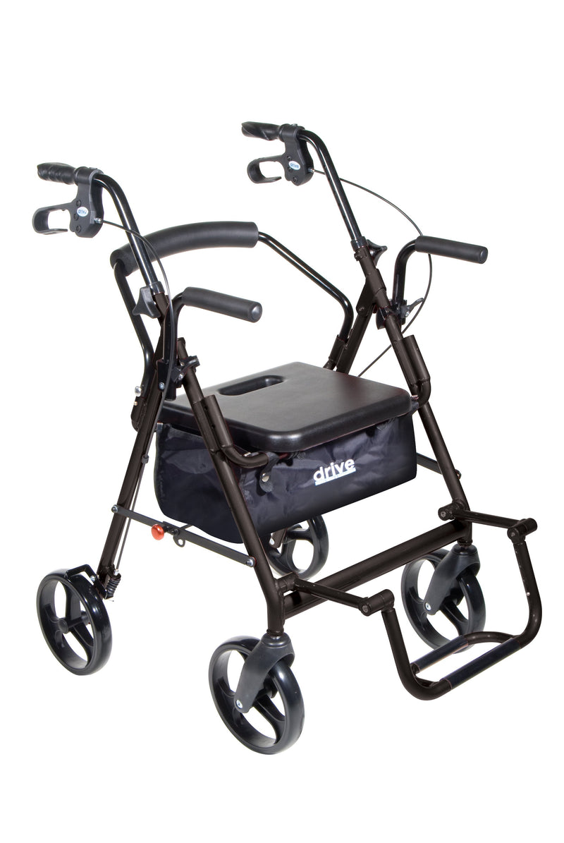 Duet Dual Function Transport Wheelchair Rollator Walker
