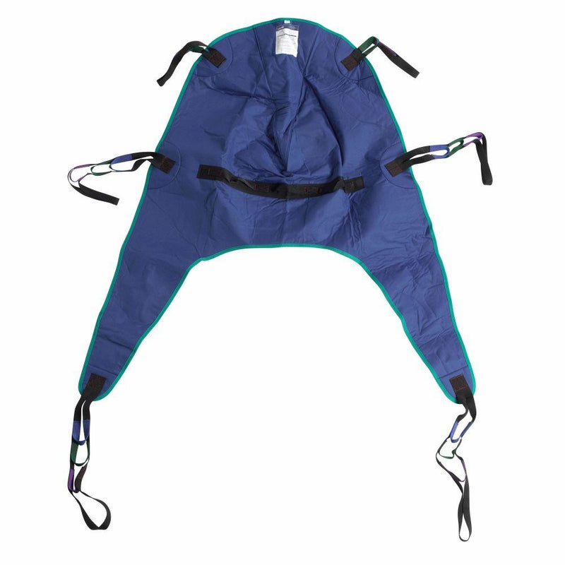 Divided Leg Patient Lift Sling with Headrest Medium -