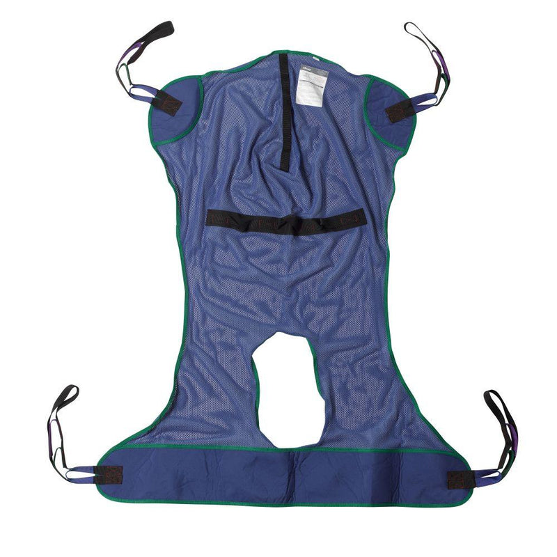 Full Body Patient Lift Sling Mesh with Commode Cutout Extra