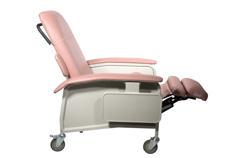 Clinical Care Geri Chair Recliner Rosewood - Patient Room