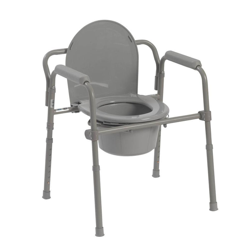 Steel Folding Bedside Commode - Commodes