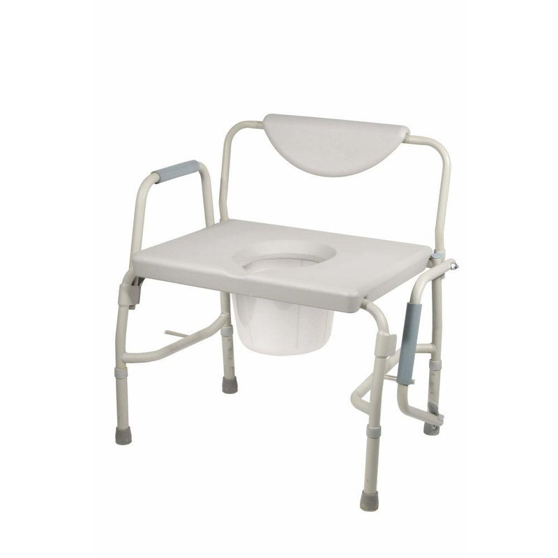 Bariatric Drop Arm Bedside Commode Chair - Commodes
