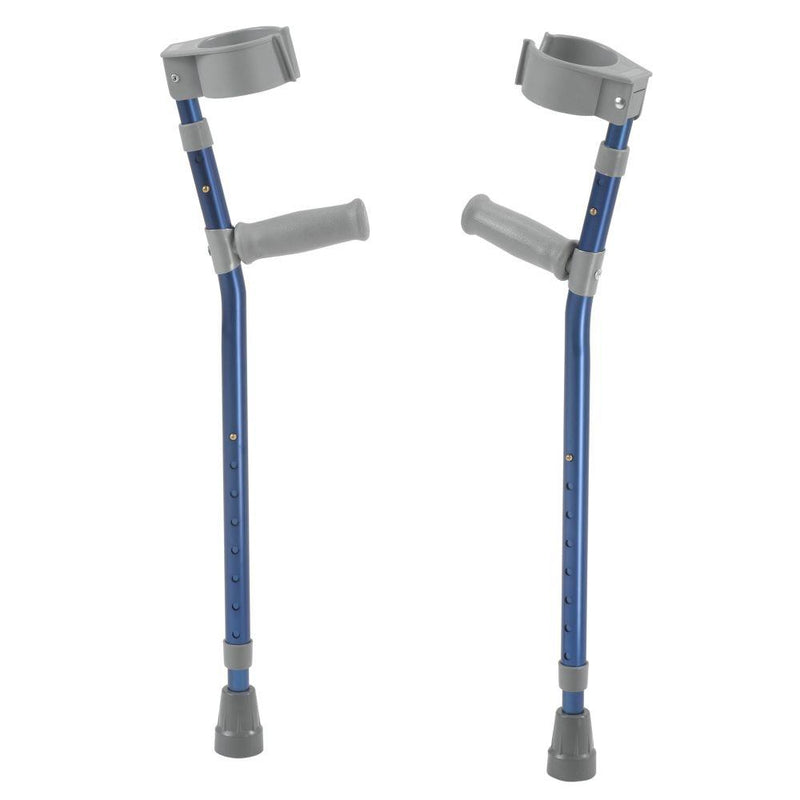 Pediatric Forearm Crutches Large Knight Blue Pair -