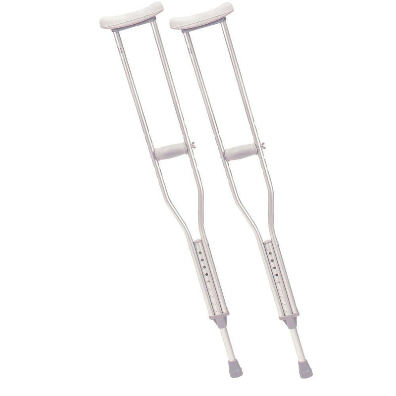 Walking Crutches with Underarm Pad and Handgrip Adult 1 Pair