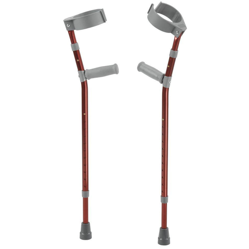 Pediatric Forearm Crutches Large Castle Red Pair - Pediatric