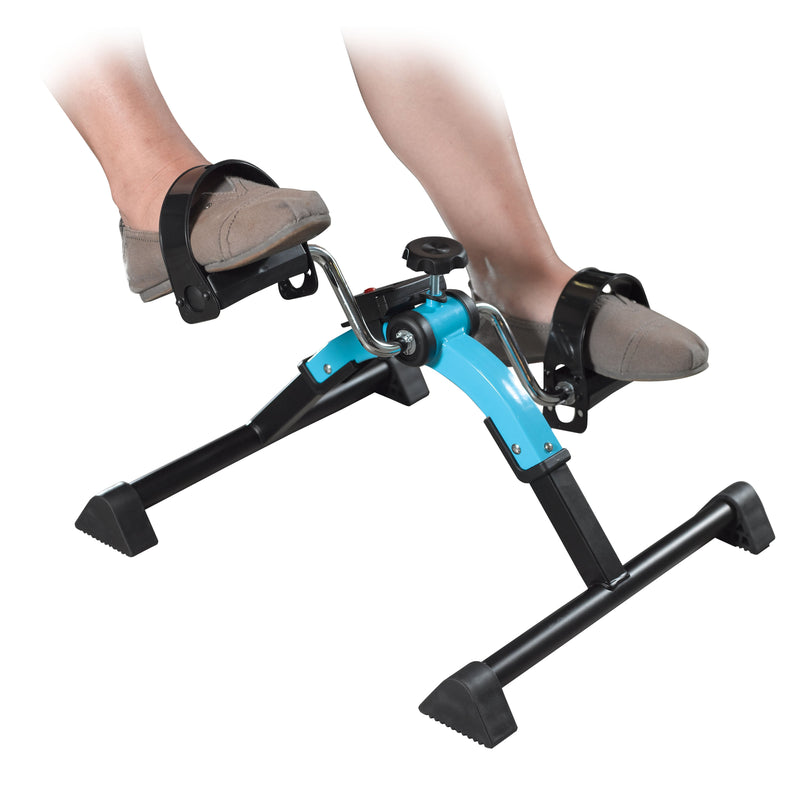 Folding Exercise Peddler with Digital Display Blue -