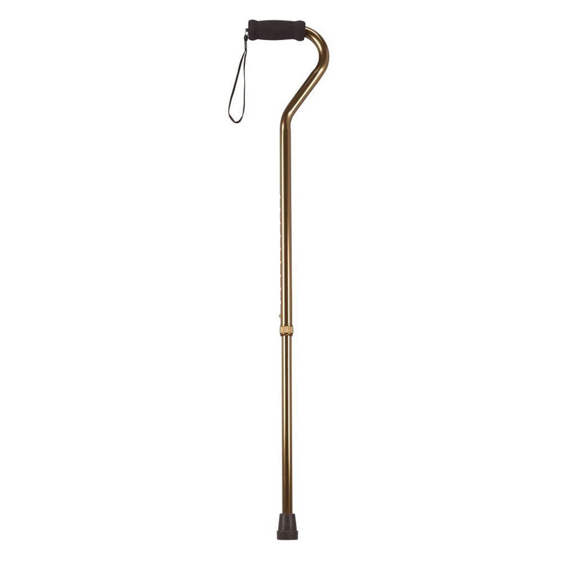Foam Grip Offset Handle Walking Cane Bronze - Canes