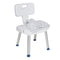 Bathroom Safety Shower Chair with Folding Back - Bathroom