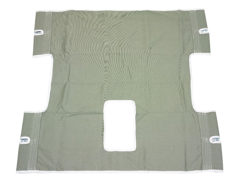 Bariatric Heavy Duty Canvas Sling with Commode Cutout -