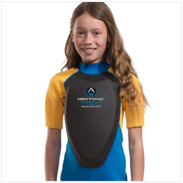 Kids wetsuit with built-in floatation - Water Sport
