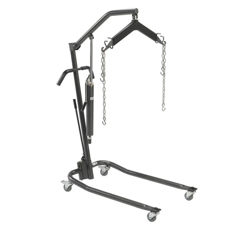 Hydraulic Patient Lift with Six Point Cradle 3 Casters